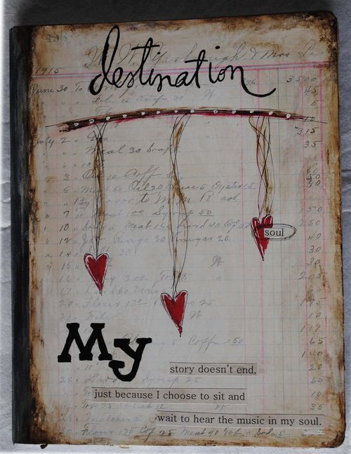 Scrapbooking / Journaling / Mixed Media / love this beautiful journal page by Nellie Wortman