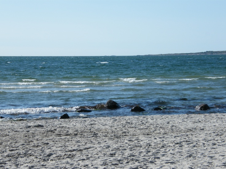 on the beach in Varberg, Sweden