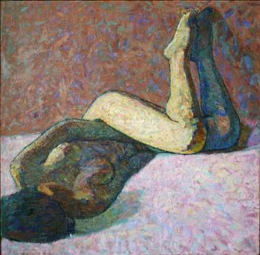 "Saatchi Art Artist Svetlana Shebarshina; Painting, ""Night without you"" #art"