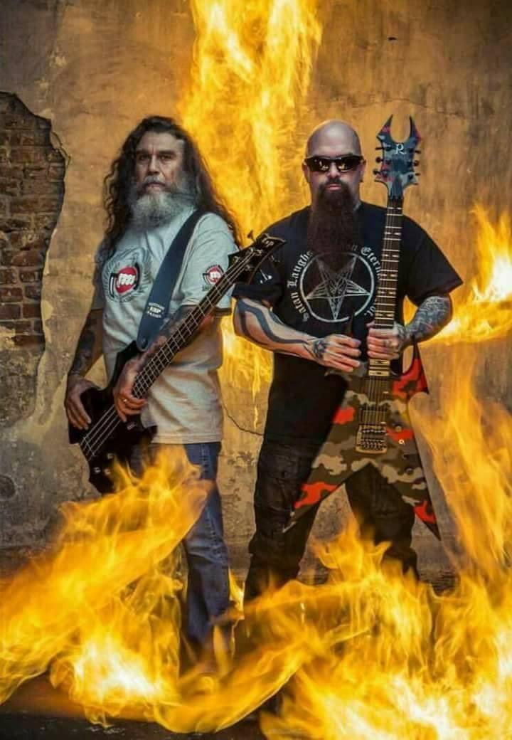 Tom Araya and kerry king of Slayer.