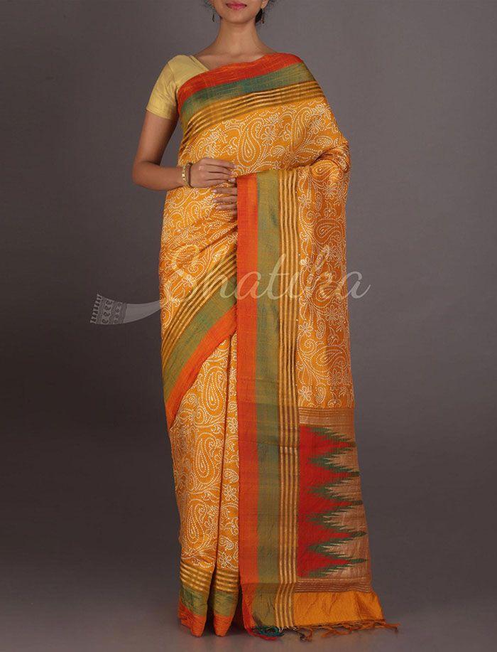 Neha Paisleys Passion Exclusive #HandPaintedSilksaree