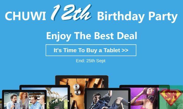 CHUWI 12 compleanno 30 euro di sconto sui Tablet