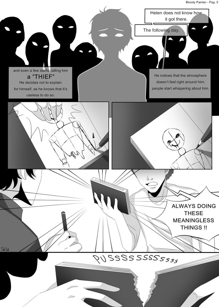 Bloody Painter story Comic-Pag.5 OK so the reason I consider bloody painter the…