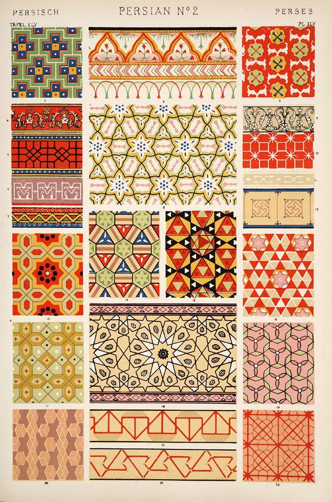 From Owen Jones' Grammar of Ornament. Persian ornament.