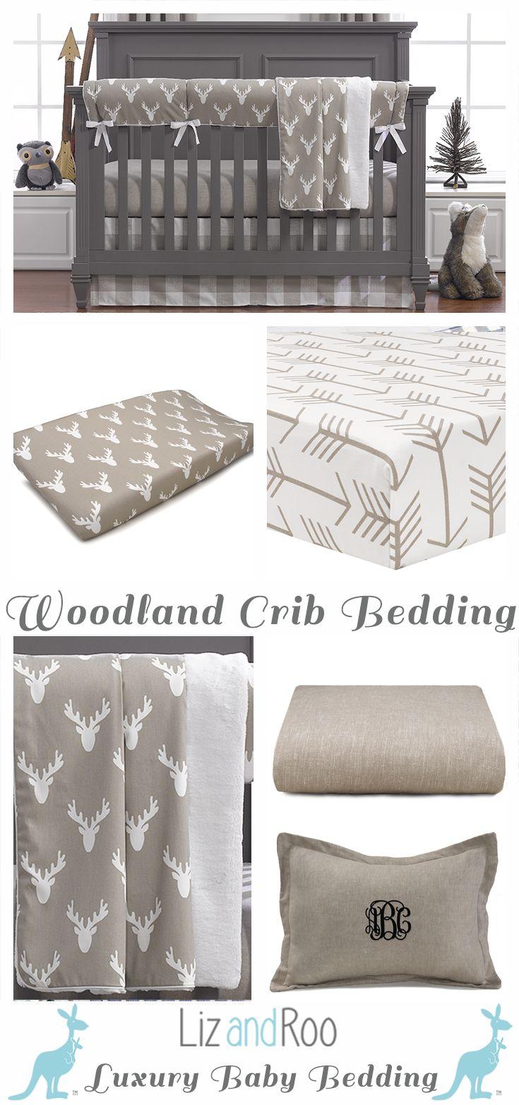 Buck Baby Bedding | Woodland Nursery | Baby Boy Woodland
