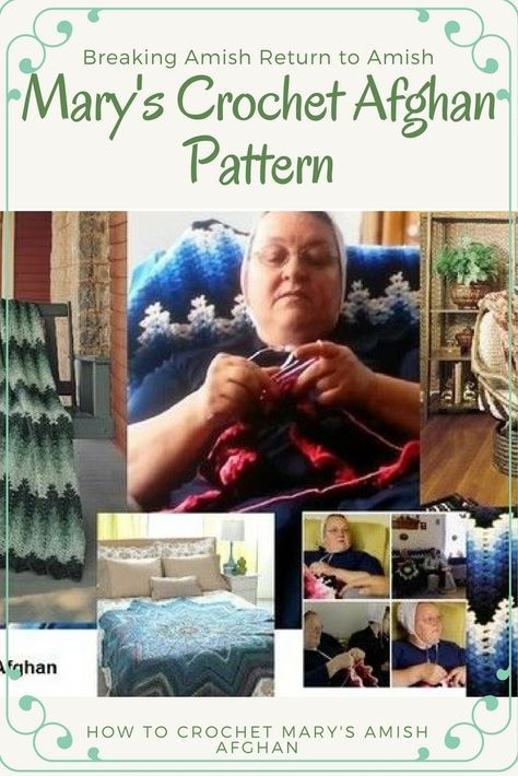 If you are a fan of Breaking Amish (I watch it to see if Mary is Crocheting) check out one of Mary's favorite crochet afghan patterns to crochet (she works on these quite a bit during the show). http://www.craftdrawer.com/2014/06/marys-crochet-afghan-patterns-from.html
