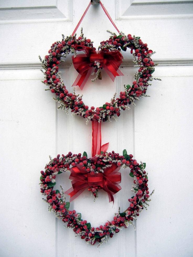 Valentine Wreath , Heart Wreath , Wreath For The Door , Sweet Heart Wreath. $69.00, via Etsy.