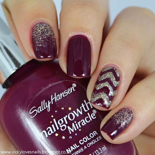 Echa un vistazo a la mejor decoraciones uñas de gel en las fotos de abajo y obtener ideas para sus equipos de trabajo!!! Dark Purple Nail Design