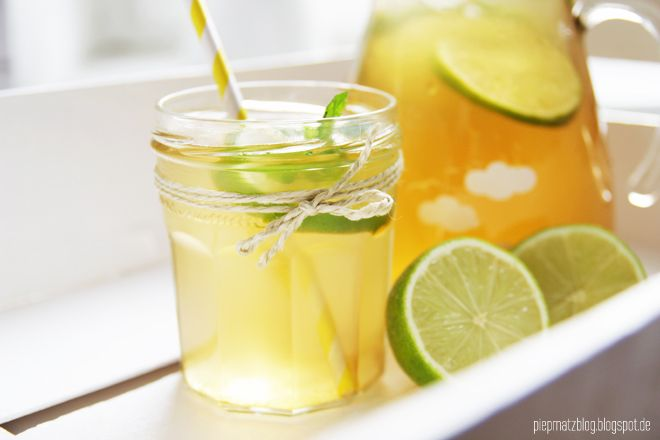 homemade mango mint lime iced tea. | TEA | Pinterest