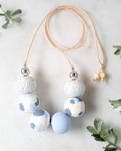 Mummy's Pretties - Baby Blues BOBBI Necklace. Hand crafted from polymer clay. Made in Tasmania.