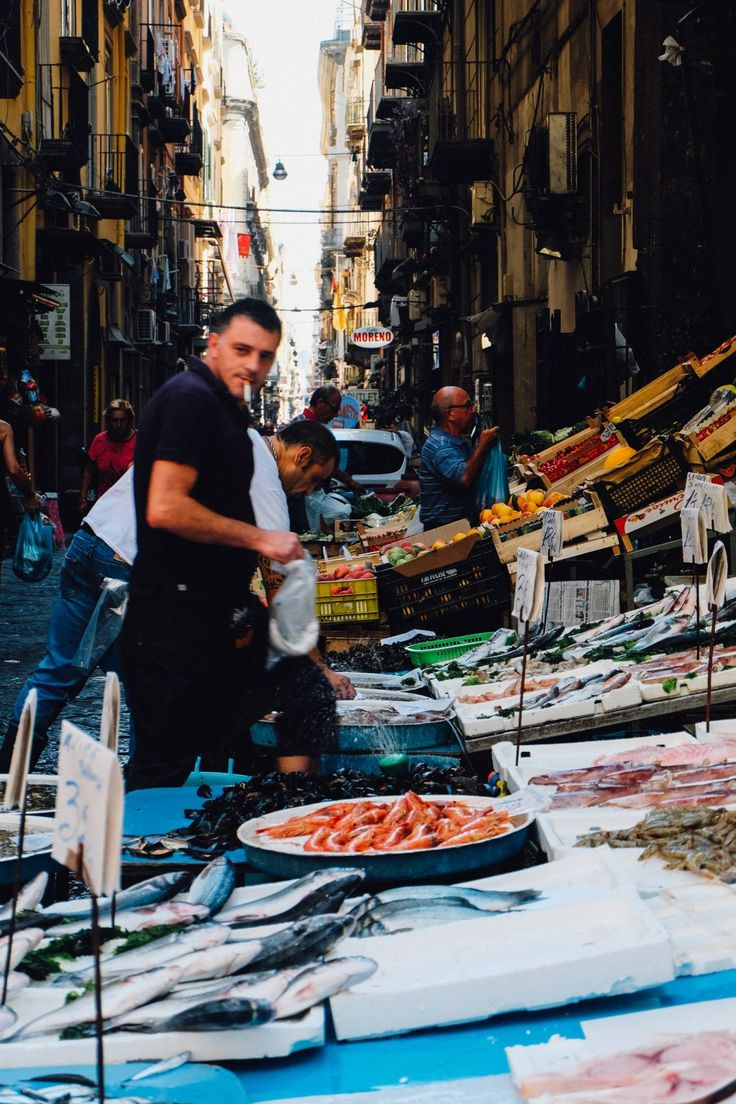La Pignasecca Market in Naples Street Food in Napoli