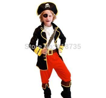 бесплатная доставка горячая 2014 пиратские костюмы для мальчиков хэллоуин костюмы косплей костюмы розничная детская cxcc- 6007