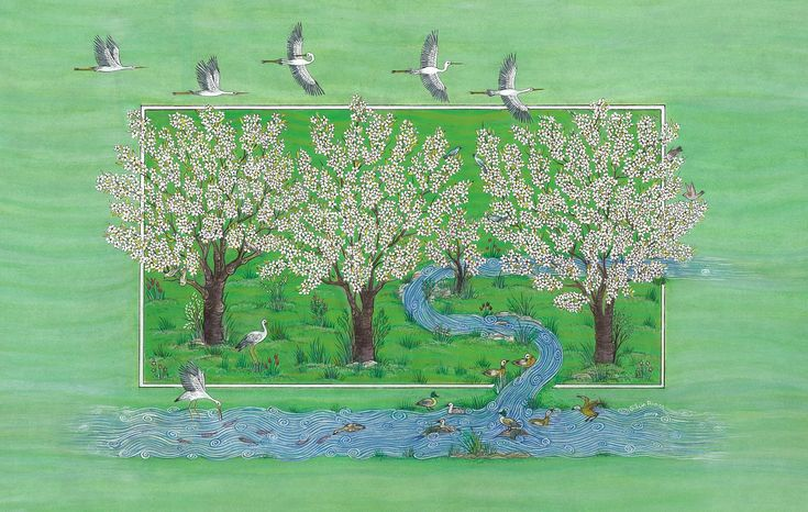 """Spring in Cherry Orchards"" by Gulcin Anmac."