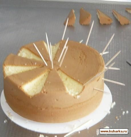 Master classes cake decorating HOW TO C UT CAKE IN WAVES. RUSSIAN SITE