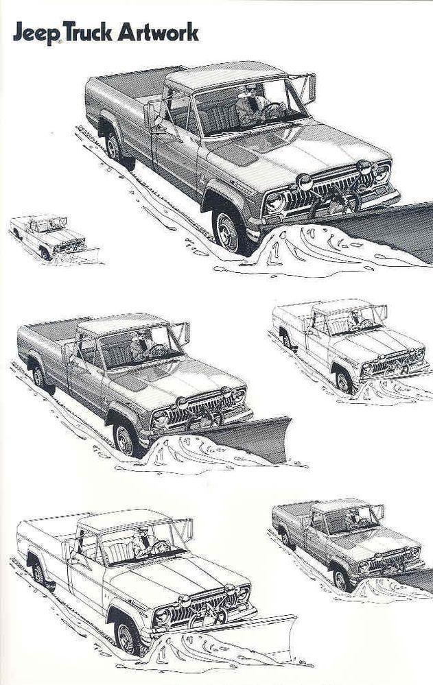 1973 Jeep Pickup Truck Dealer Ad Proof 151802-15IOLH