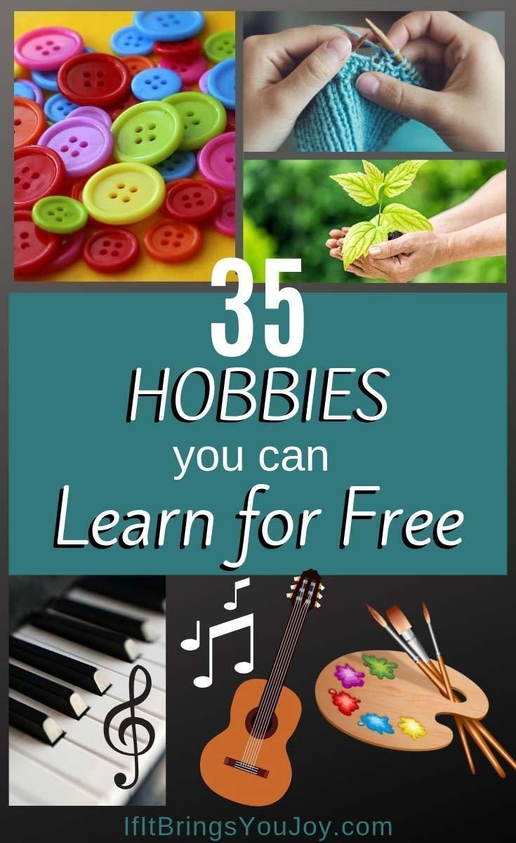 List of 35 fun hobby ideas for women. Hobbies to try by