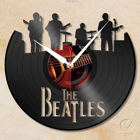 vinyl wall clock the Beatles by Anantalo on Etsy