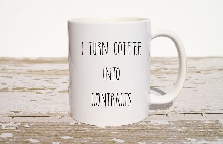 "I Turn Coffee Into Contracts Mug, Funny Coffee Mug, Gift for Realtor, Realtor Gift, Funny Christmas Gift, Gift for Coworker, Gift for Best Friend,. This listing is for one ""I Turn Coffee Into Contracts"" 11 oz Ceramic Coffee Mug. This funny coffee mug makes the perfect realtor gift, mortgage broker gift, banker gift, and anyone who does contracts!."