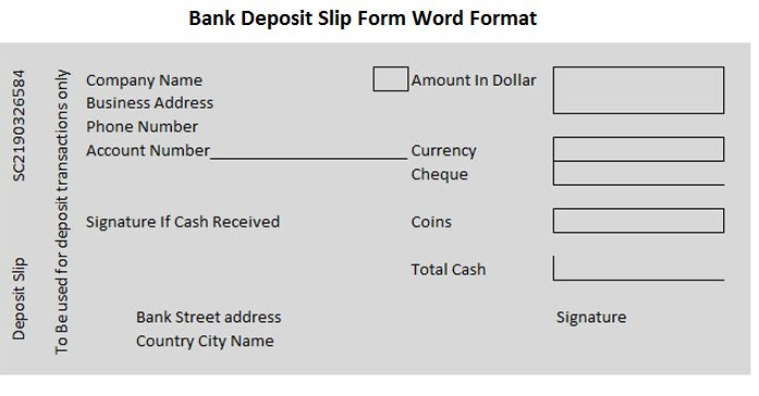 bank deposit slip Bank Deposit Slips Pinterest Bank deposit - pay in slip format in excel
