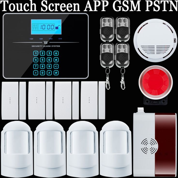 (91.79$)  Watch here  - Touch LCD keypad Wireless&wired GSM SMS Home Security Alarm System support pstn telephone alarm +PIR Sensors