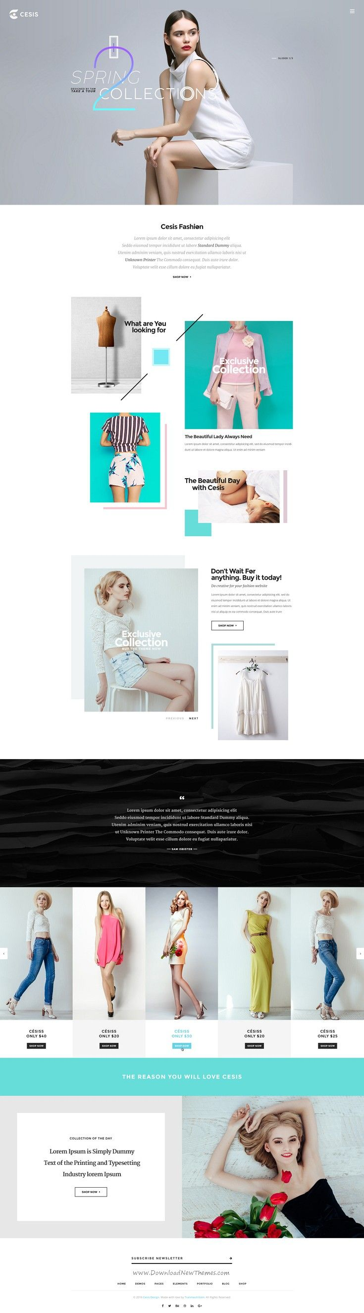 Cesis Ultimate Multipurpose PSD Template. Cesis is very clear, super flexible and full of powerful options. It comes with 15 homepage layouts. #fashion #psdtemplate #webdesign