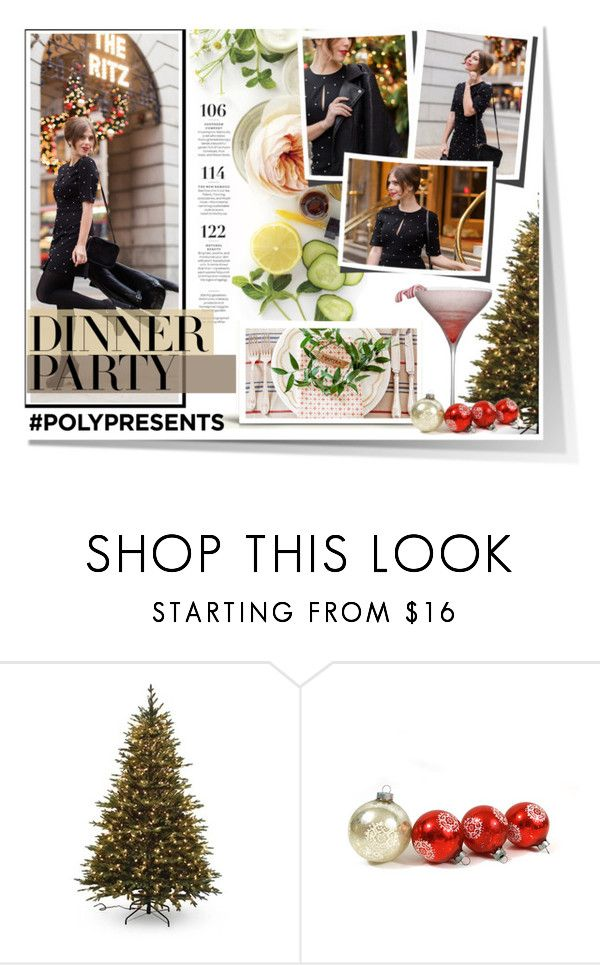 """""""#PolyPresents: Dinner Party"""" by atikazahra on Polyvore featuring Martha Stewart, Santa's Workshop, contestentry and polyPresents"""