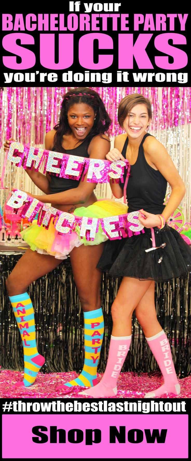 We agree, some Bachelorette traditions need to be revamped, but if a night of craziness out with your best friends sucks, then we are sorry to say - you are doing something wrong :(  But don't despair - we are the Bachelorette Party Supplies experts, and we are different...no really...and we think that Bachelorette Party should be one of the the BEST NIGHTS OF YOUR LIFE and we are here to help make that happen!