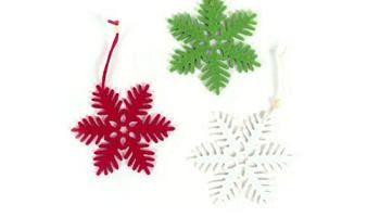 Manualidades y adornos de Navidad: Copos de nieve