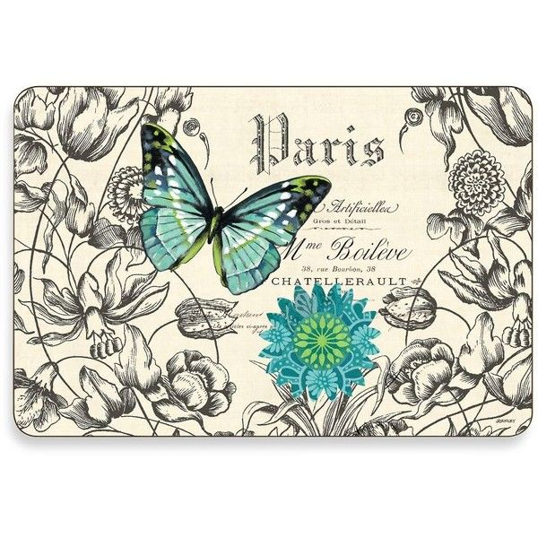 Butterflies Multi-View Cork-Backed Placemats (Set of 4) ($42) found on Polyvore