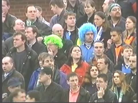 Photo taken from a police surveillance camera. The coloured wigs were not much of a disguise.