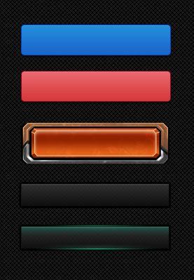 设计素材:按钮PSD