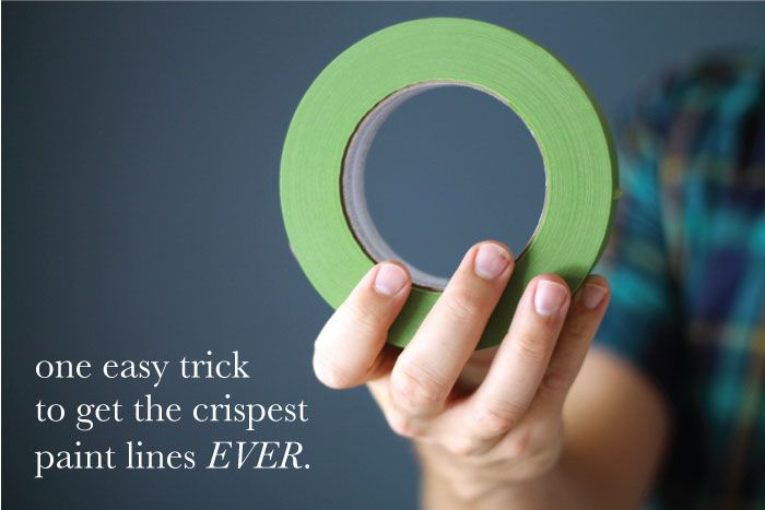 How to get the crispest paint lines EVER!