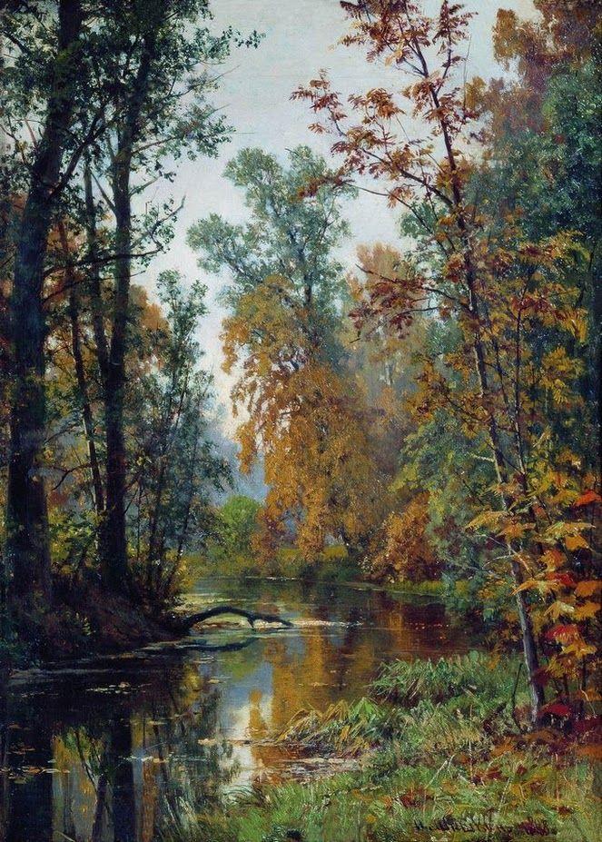Иван Шишкин «Осенний пейзаж. Парк в Павловске» 1889 г.