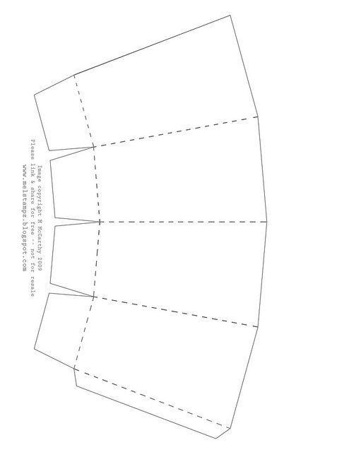 Free printable Popcorn Box template: