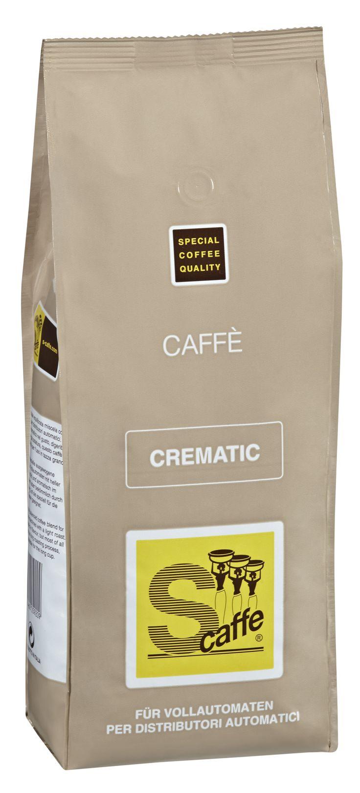 Crematic, die spezielle, ausgewogene Kaffeemischung mit heller Röstung, ideal für Vollautomaten. Weich, mild und aromatisch im Geschmack, vor allem aber bekömmlich durch die Langzeitröstung, ist dieser Kaffee speziell für die lange Tasse geeignet.