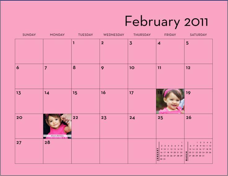 Shutterfly calendar 3