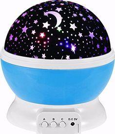 SOLMORE LED Star Projektor Nachtlicht 360 Grad drehbar Starlight Sternenhimmelprojektor Romantische Nacht Lampe Beleuchtung mit USB für Schlafzimmer Geburtstag Weihnachten Kinder Baby Blau