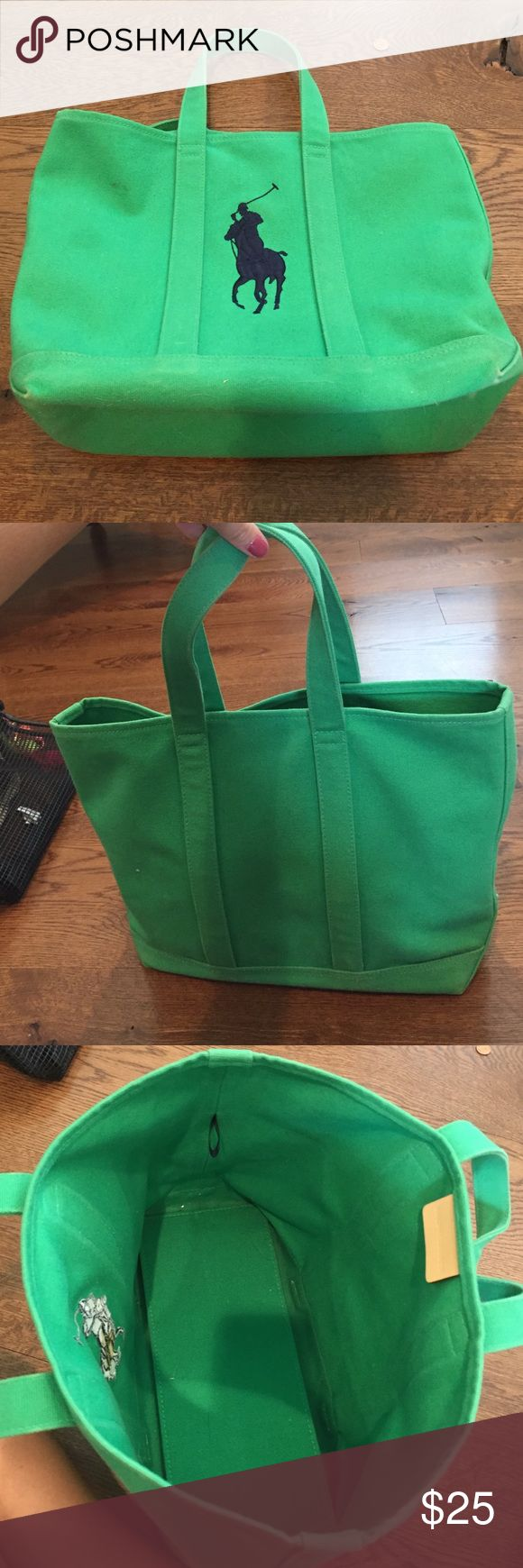 Ralph Lauren tote bag Green Ralph Lauren tote bag. Small spot on the front but hardly noticeable. Otherwise great condition! Ralph Lauren Bags Totes