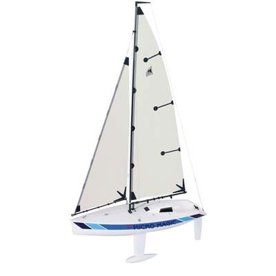Graupner Micro Magic Race V2 Kit. Variable position keel (fore and aft direction) enables quick adjustments for varying sailing conditions and operator preference. Reduced area and thinner profile on keel fin and rudder for reduced water resistance.