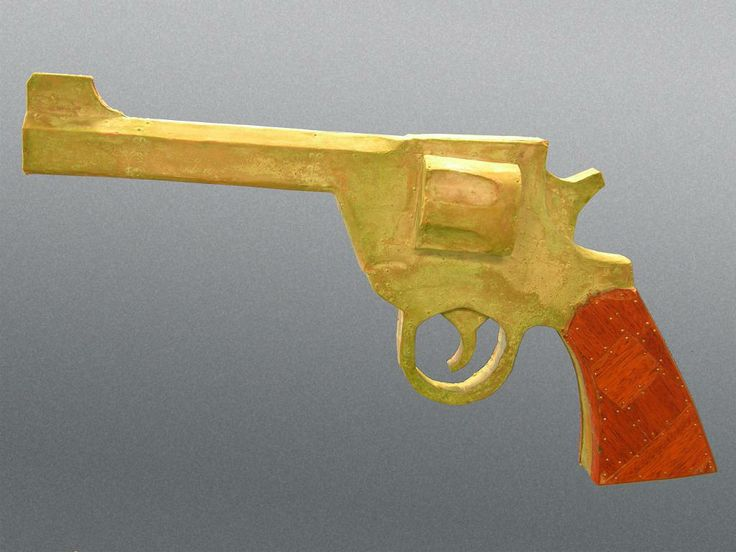 Pistolero, wood, metal