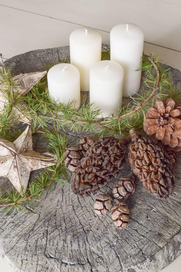 25 einzigartige weihnachtsdeko aus naturmaterialien ideen auf pinterest basteln weihnachten. Black Bedroom Furniture Sets. Home Design Ideas