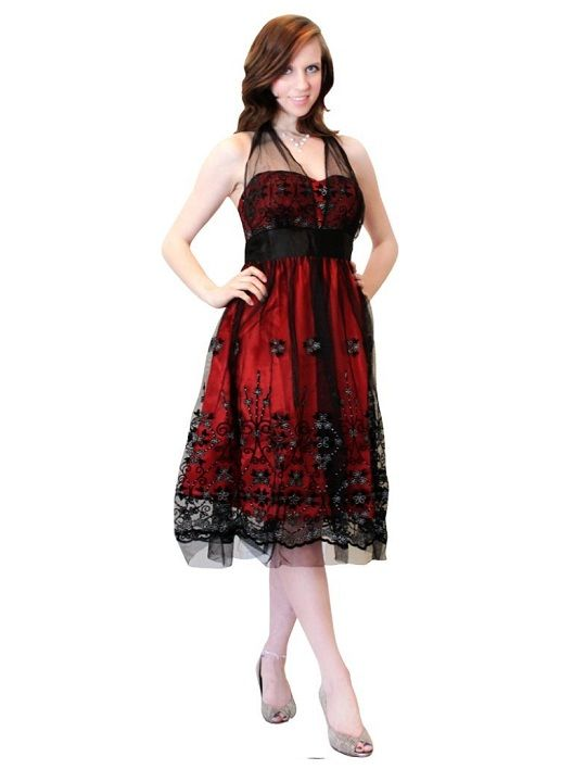 Cheap short black and red prom dresses under 100 dollars