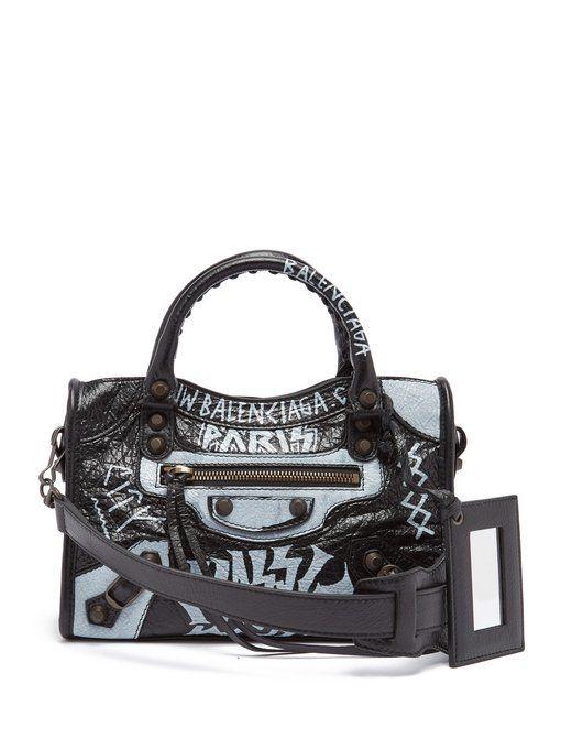 BALENCIAGA Classic City Mini Graffiti.  balenciaga  bags  shoulder bags   hand bags  canvas  leather  lining   0d6970990d546