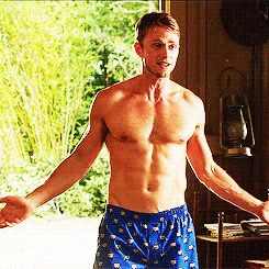 """When Wade wore these cat burglar-patterned boxers.   Community Post: 14 Moments That Made You Keep Watching """"Hart Of Dixie"""""""
