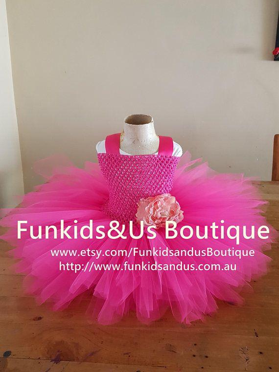 Hot Pink Tutu dress First Birthday Pink Tutu Smash cake
