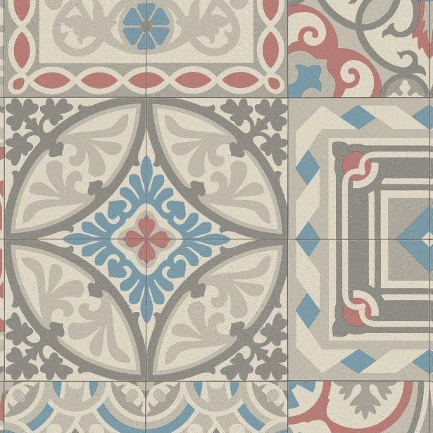 Mosaic Tile Design Cushioned Vinyl Flooring Slip Resistant Sheet Cushion Floor   eBay