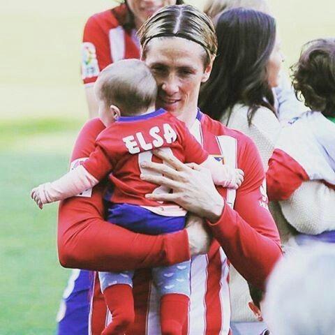 Fernando Torres and his daughter Elsa