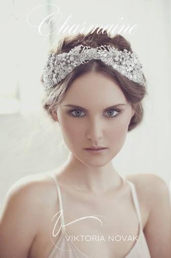 Couture Viktoria Novak headpiece - 2014 Collection www.viktorianovak.com.au