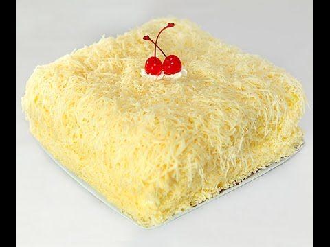 How to make cheddar chesse sponge cake / Resep Bolu Keju Cheddar - YouTube