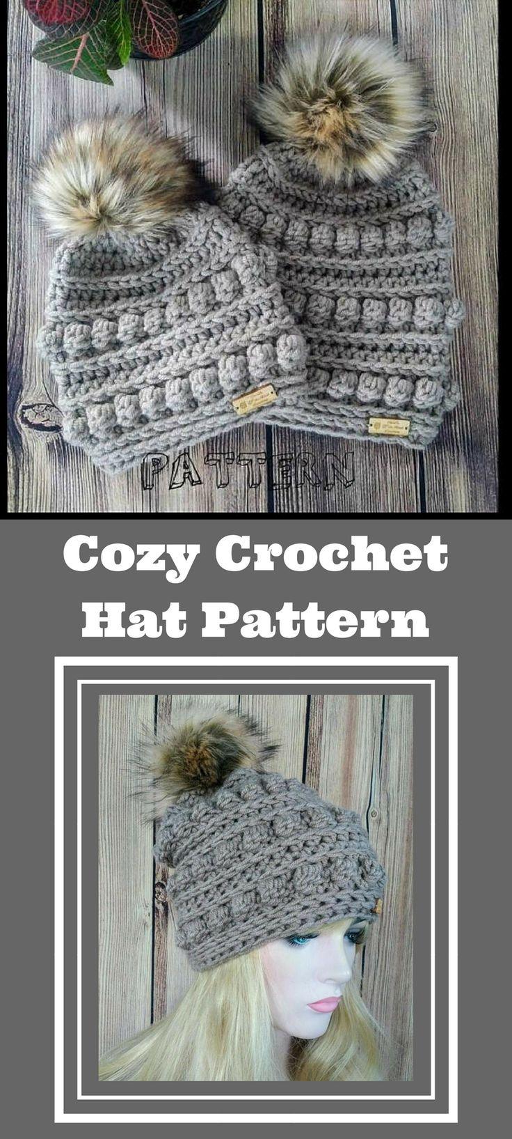 Bumpy Beanie Crochet Pattern- looks so cozy for a winter day! #crochetpattern #affiliate #beanie #crochethat